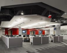 Work area at Comcast's Customer Resource Center