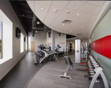 Fitness center at Comcast's Customer Resource Center