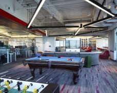 JDA game room, pool table, foosball