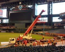 Crane pick at Chase Field