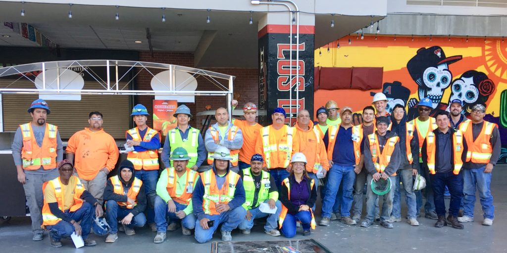 Jokake and subcontractors at Chase Field